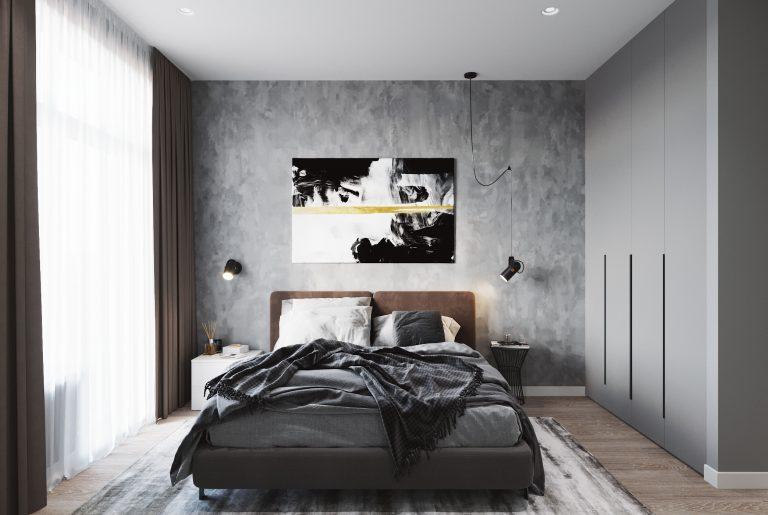 спальня с артом