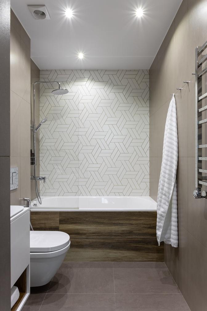 светлая современная ванная