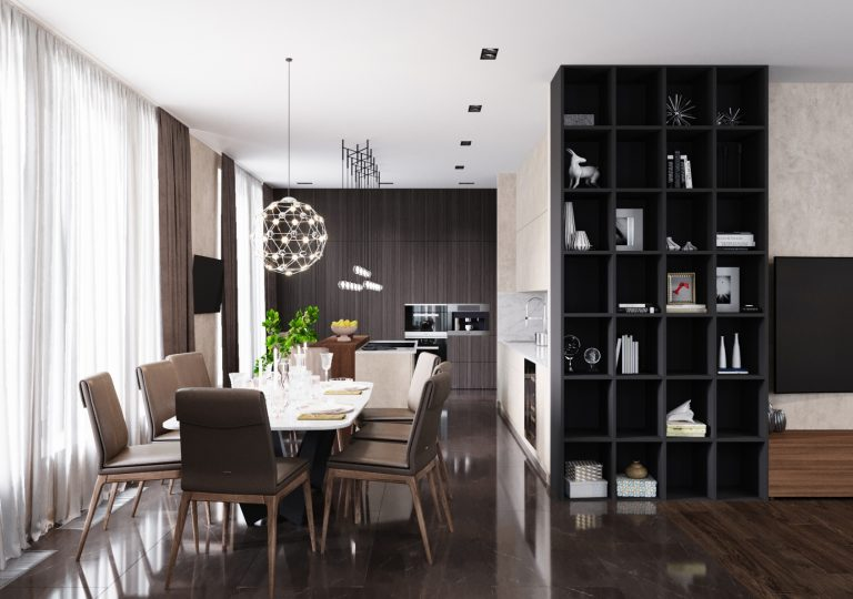The apartment of 200 sq.m. in a contemporary style