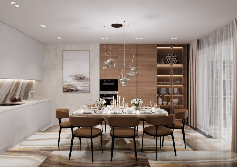 The apartment of 108 sq.m. in a contemporary style
