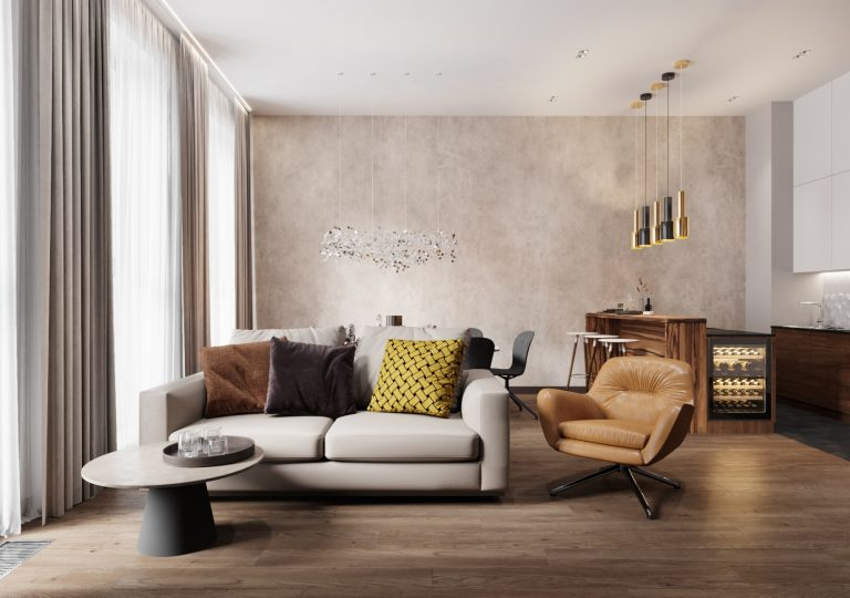 The apartment of 150 sq.m. in a contemporary style