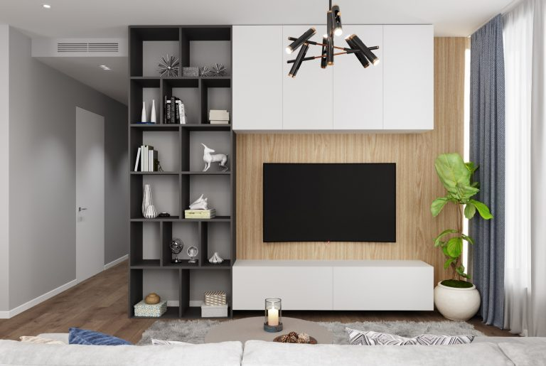 зона ТВ в гостиной