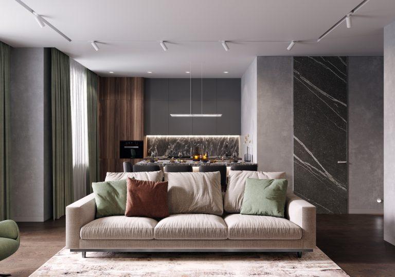 Квартира 110 кв.м. в современном стиле в ЖК RedSide