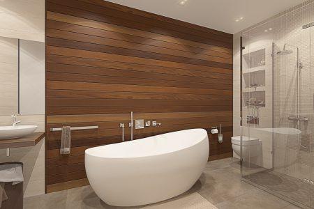 Ванная со стеной из тика Bathroom View_03