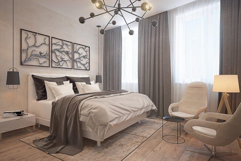 Спальня в современном стиле Bedroom View1