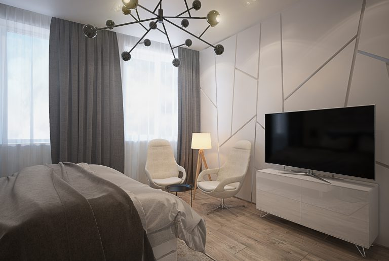 Спальня в современном стиле Bedroom View2