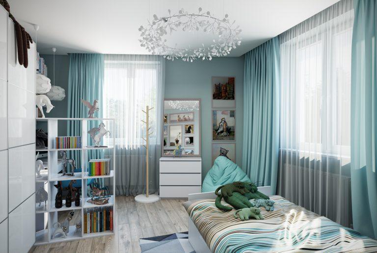 Детская комната девочки Икеа Chaildroom IKEA View03