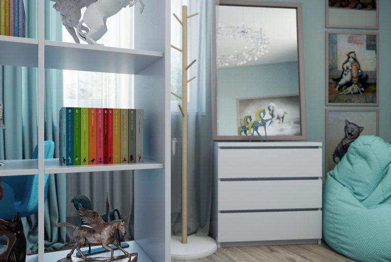 Детская комната девочки Икеа Chaildroom IKEA View05