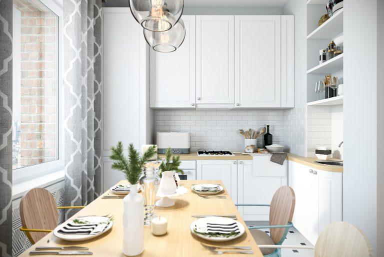Кухня в скандинавском стиле Kitchen View10