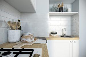 Кухня в скандинавском стиле Kitchen View14