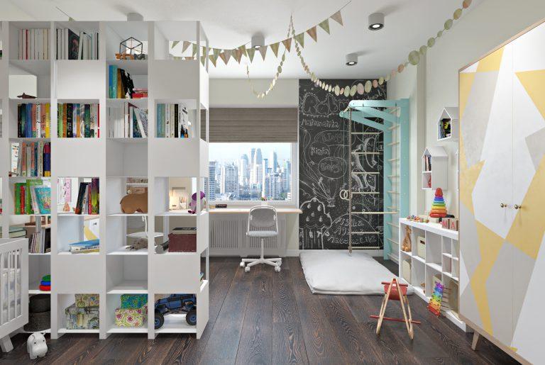 Детская комната для двух детей View01