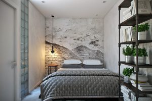 Спальня в стиле лофт View05