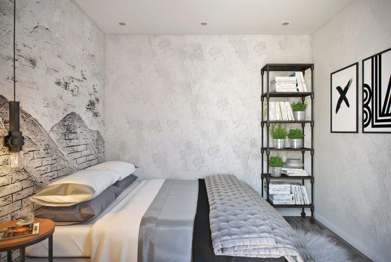 Спальня в стиле лофт View07