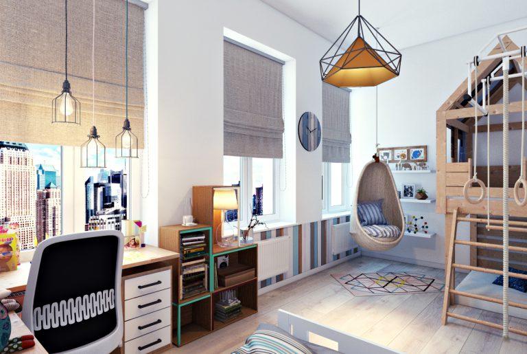 Дизайн детской комнаты вид 1