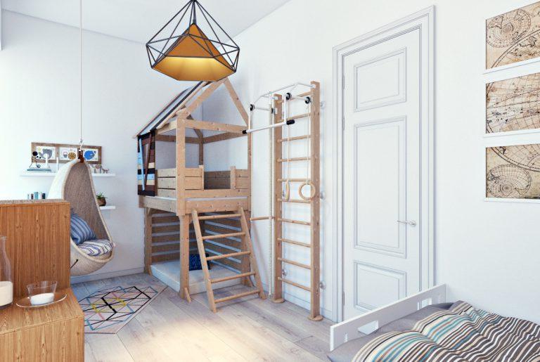 Дизайн детской комнаты вид 2