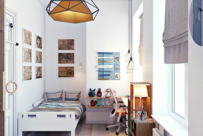 Дизайн детской комнаты вид 3