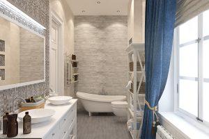 Ванная с мозаикой вид 3 bathroom