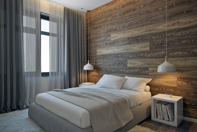 Современная уютная master-спальня на втором этаже