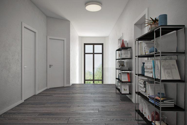Светлый современный холл второго этажа