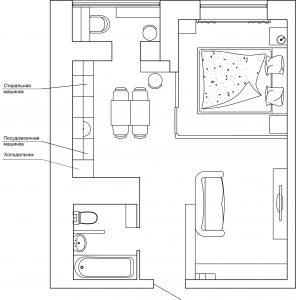 Планировочное решение 42 кв.м.