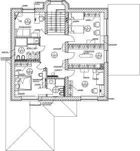 Планировочное решение второго этажа