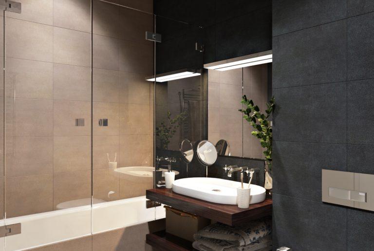 Ванная в современном стиле Bathroom View07