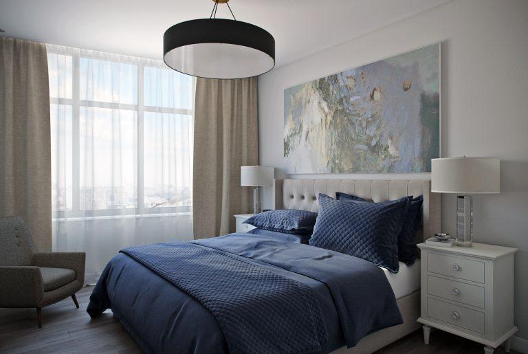 Спальня в современном стиле Bedroom View09