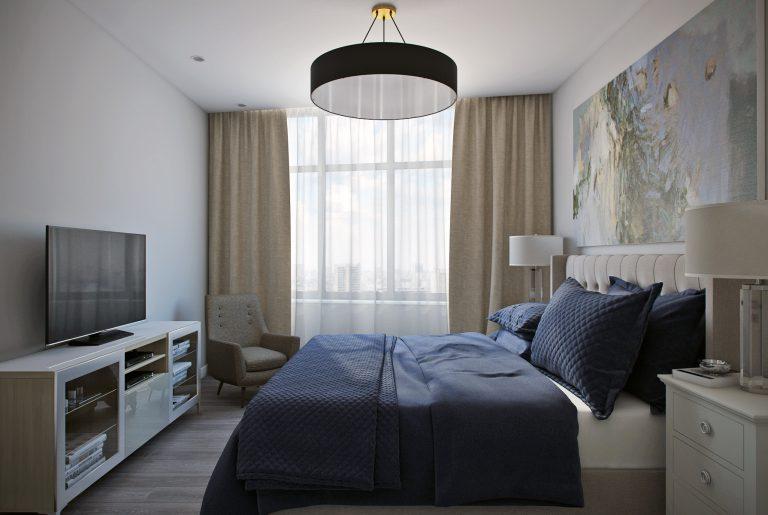 Спальня в современном стиле Bedroom View10