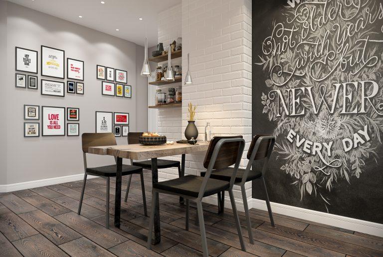 Гостиная в стиле эклектика Livingroom (11) обеденная зона