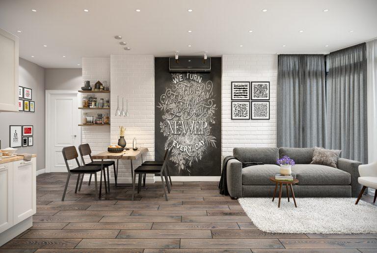 Студия (кухня, гостиная) в стиле эклектика Livingroom (5)