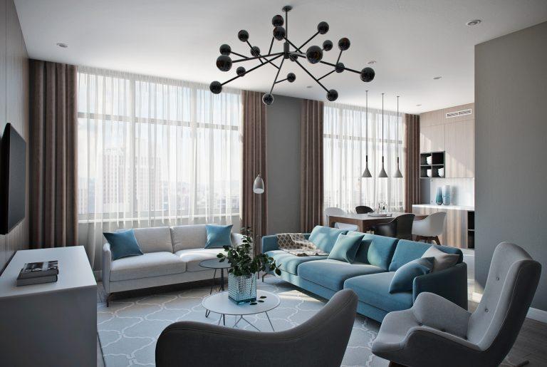 Гостиная в современном стиле View02