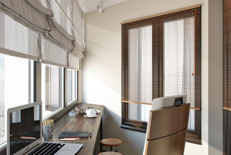 Рабочее место на теплом балконе
