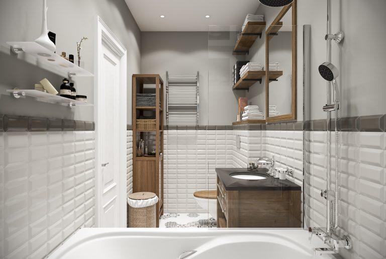 Ванная светлая bathroom (1) плитка с рисунками
