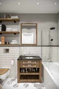 Ванная светлая bathroom (2) плитка с рисунками