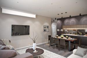 Гостиная кухня современный стиль Living room modern style kitchen