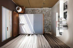 Спальня Bedroom View03 вид сверху современный стиль