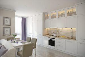 Белая кухня эклектика View02