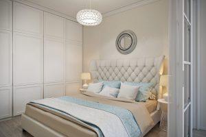 Спальня в стиле эклектика вид 06