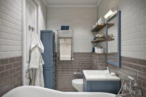 Ванная в стиле эклектика
