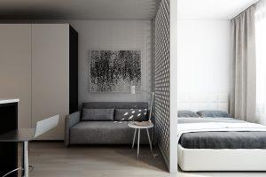 Студия в стиле минимализм Studio in the style of minimalism