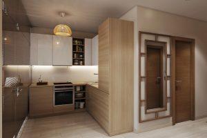 Студия кухня Studio View06 дерево