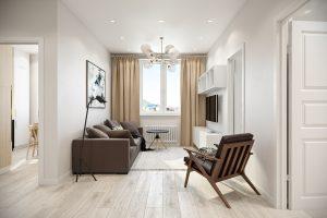 Студия гостиная (1) скандинавский стиль