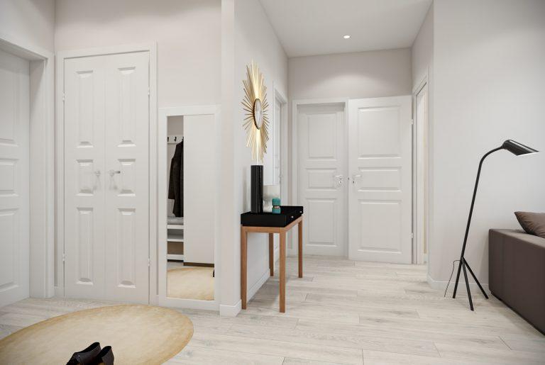 Студия гостиная прихожая (5) скандинавский стиль