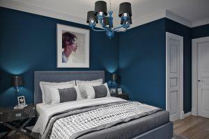 Спальня ар-деко синяя
