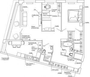 Планировочное решение Vhouse 110 кв.м.