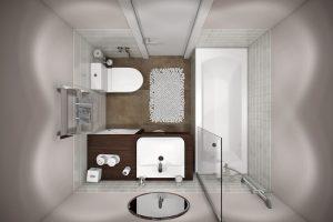 Ванная в современном стиле View15 вид сверху
