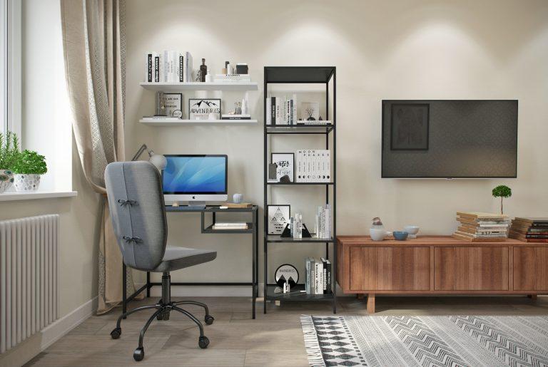 гостиная- living room3 в скандинавском стиле