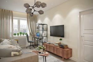 гостиная- living room4 в скандинавском стиле