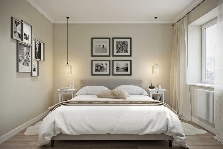 спальня- bedroom в скандинавском стиле