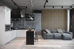 гостиная- living room1 в стиле лофт